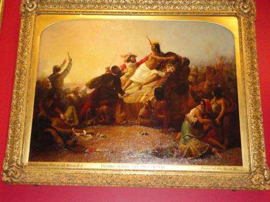 Pizarro Seizing The Inca of Peru - J.E. Millais
