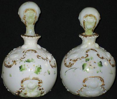 Perfumeros victorianos en opalina