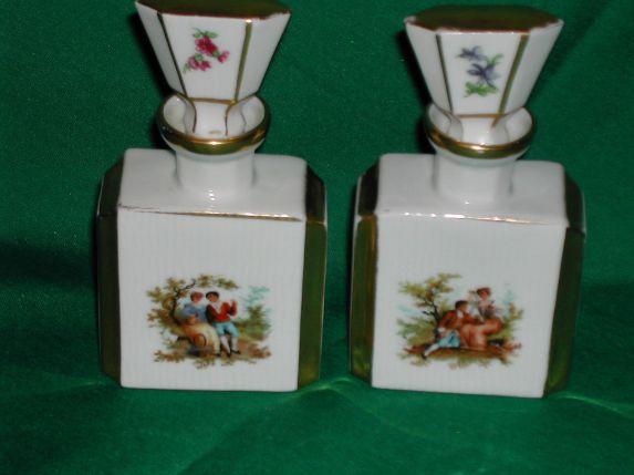 Perfumeros victorianos en porcelana