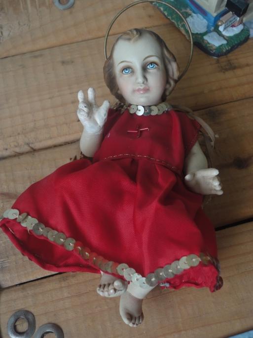 El Nino Jesús que está en mi familia por 150 anos aprox.