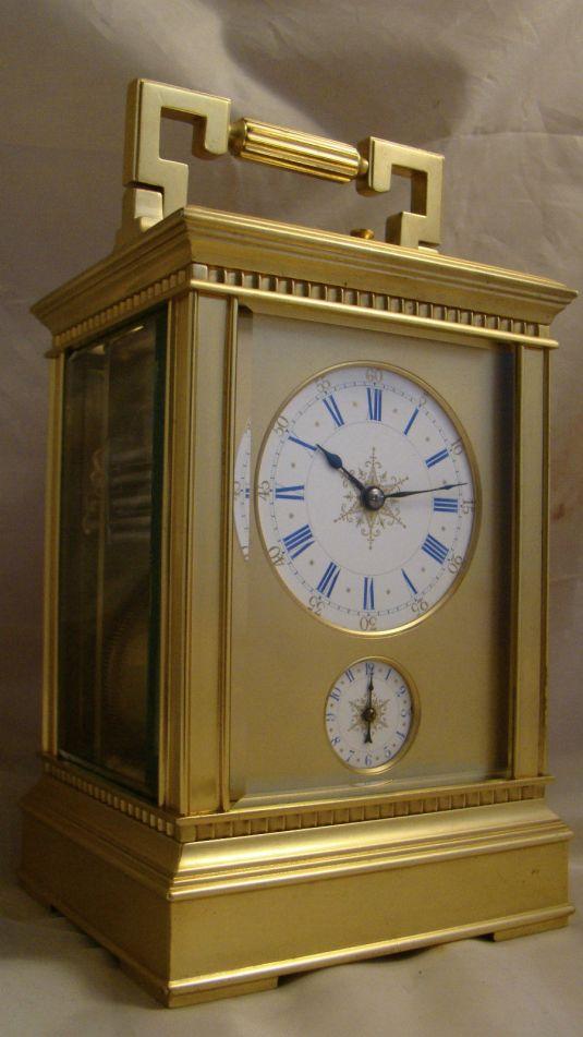 Antiguo reloj carruaje francés de 1880
