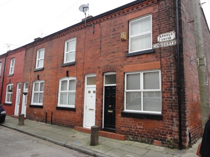 Arnold Grove Street en Liverpool donde se ubica la casa en que pasó su infancia George Harrison.
