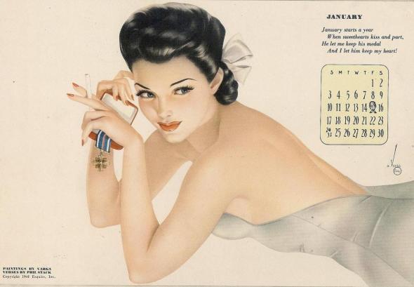 Calendario de los '40.