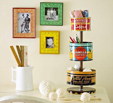 decorando con tin boxes