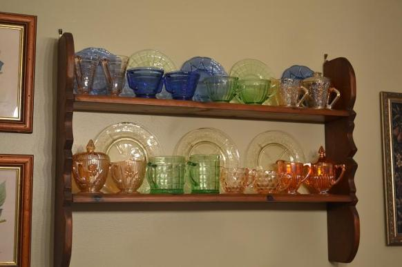 decorando con depression glass
