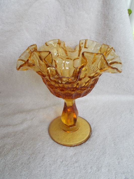 depression glass amber
