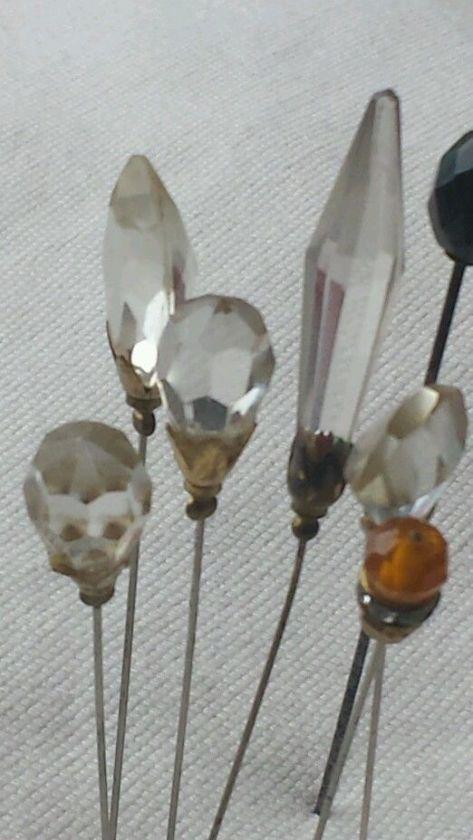 hat pin cristal