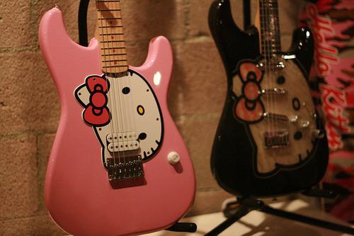 hello kitty electric guitars