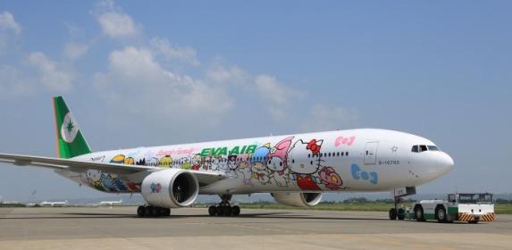 hello kitty jet 777-300ER