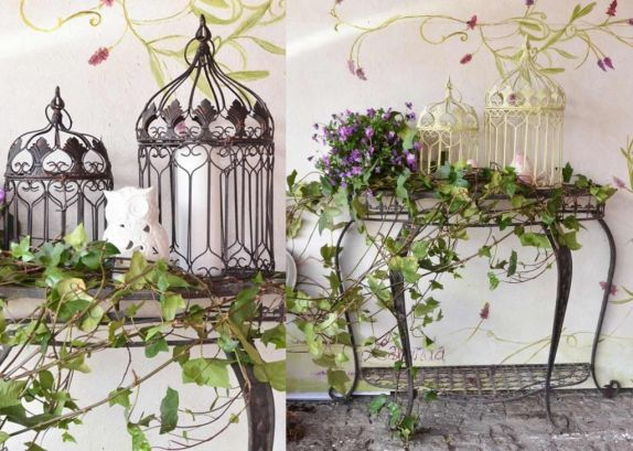 jaula decorando consola