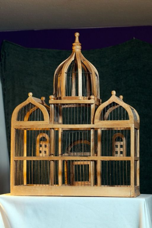 jaula victoriana taj majal madera fierro