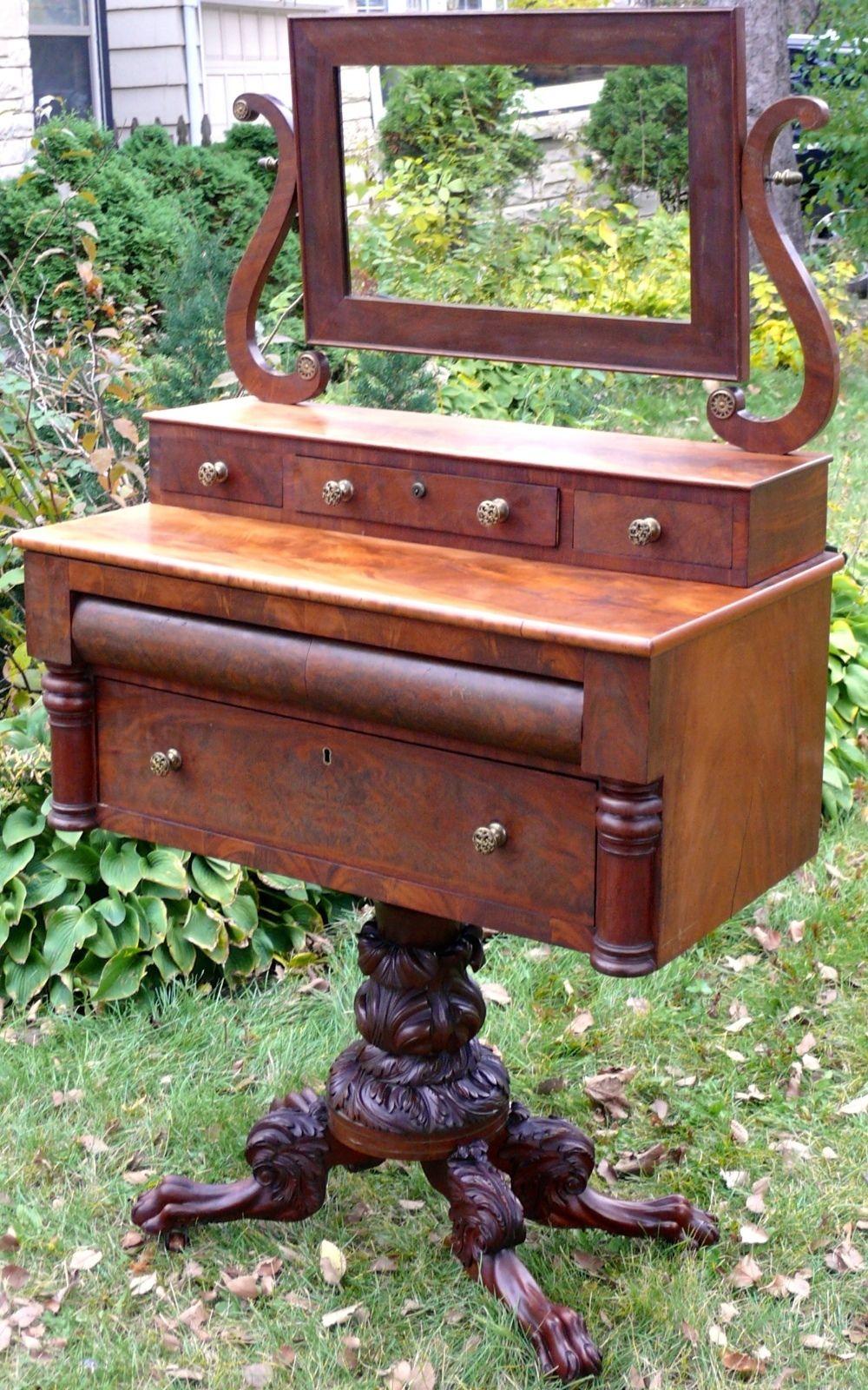 Tocadores Antiguos Big Ben Antiguedades Y Coleccionismo # Muebles Dedales