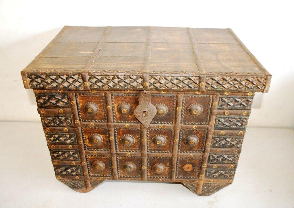 Ba l arcas o arcones big ben antiguedades y coleccionismo - Como decorar un baul de madera ...