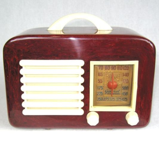 bakelite general television radio 1940
