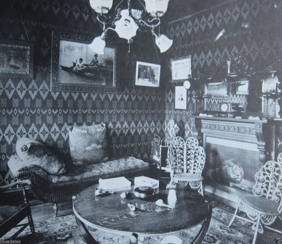 wicker antique decoration