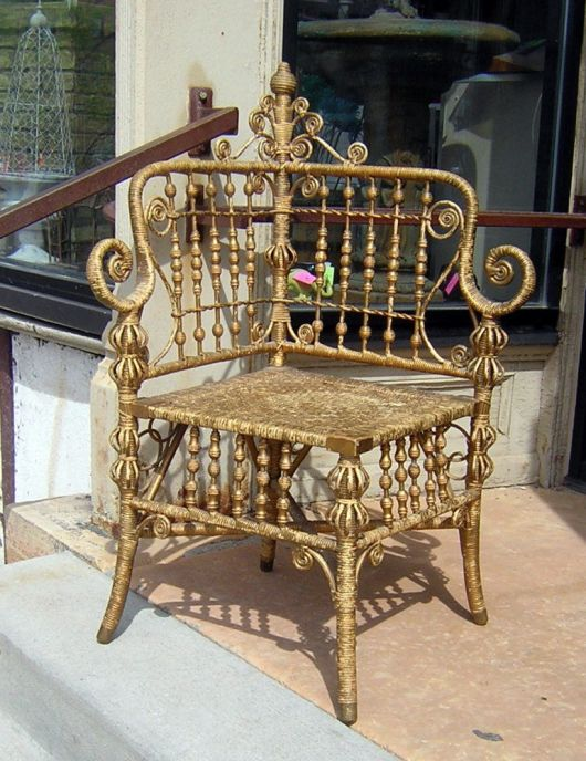wicker chair 1890 haywood brothers