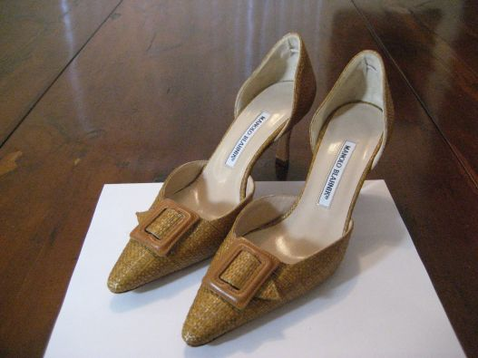 wicker Manolo Blahnik shoes