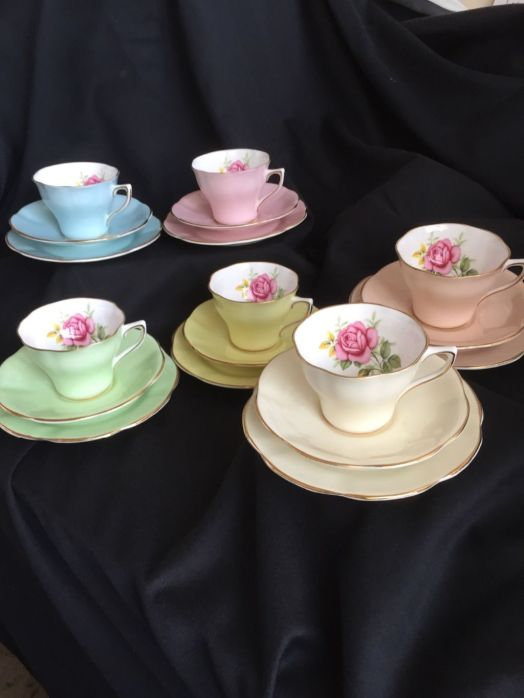 arlequin clare tea set 1960