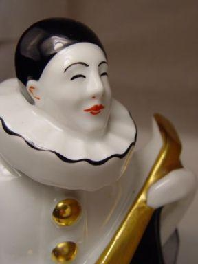 arlequin lampara francesa porcelana 1920 art deco 1