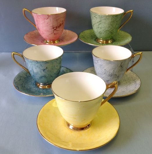 arlequin royal albert tea set 1940