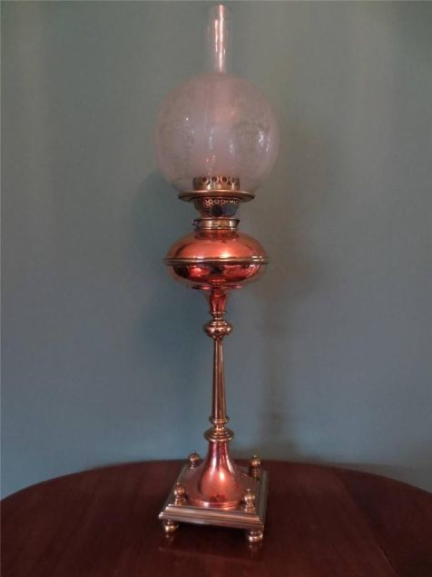 copper art noveau lamp 1904