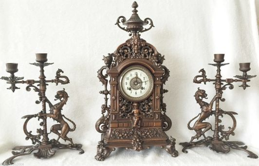 copper german clock fines de 1800