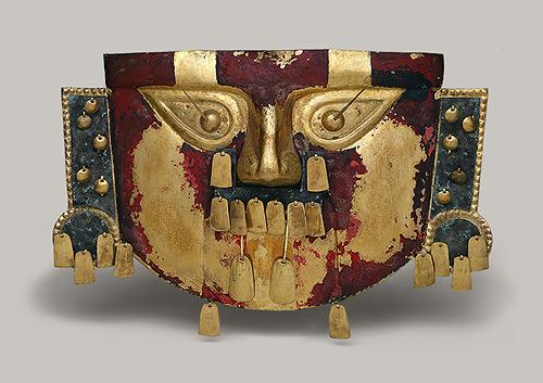 máscara funeraria de la cultura sican lambayeque