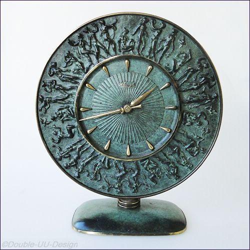 reloj art deco alemán 1933 Fritz Nuss