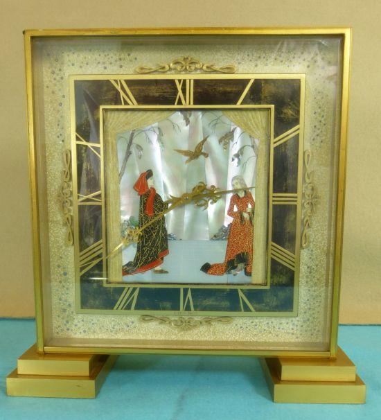 reloj art deco suizo 1935 madre perla antiguo teatro japones