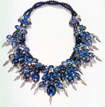 Wallis Simpson collar de záfiros y diamantes Cartier