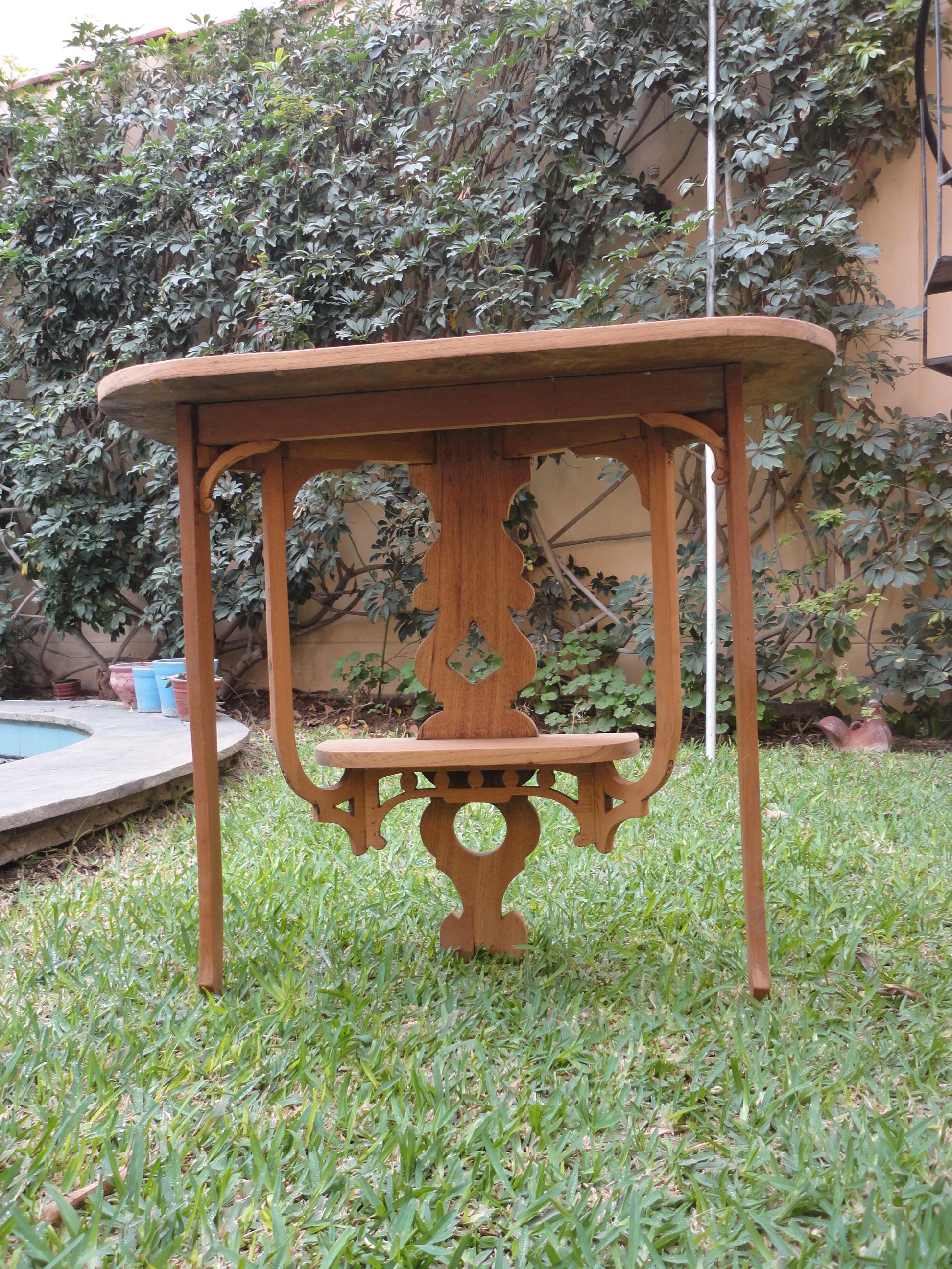 Restauraci N De Consola Antigua Big Ben Antiguedades Y Coleccionismo # Muebles Dedales