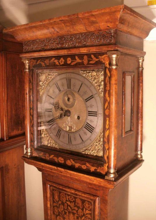Grandfather's Clock 1781 marqueteria inglés Jackson 2