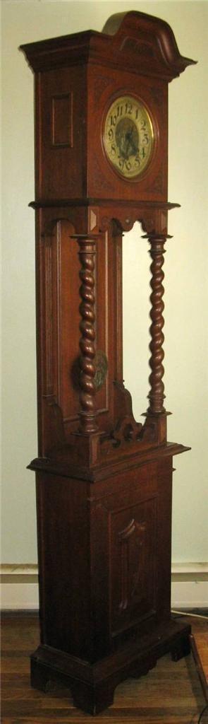 Grandfather's Clock 1800 roble aleman SCHLENKER KIENZLE