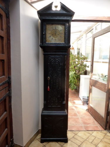Grandfather's clock SIMPSON OF WIGTON 1730 roble inglés