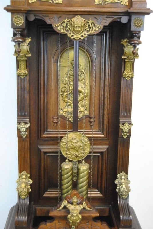 granfather's clock american 1890 estilo barroco marca ansonia 2