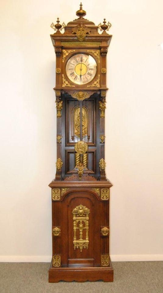 granfather's clock american 1890 estilo barroco marca ansonia