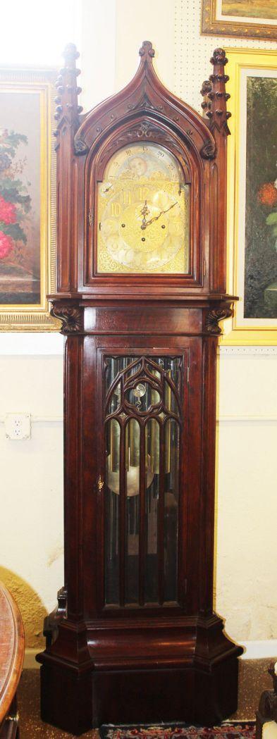 granfather's clock american 1890 estilo catedral gotica