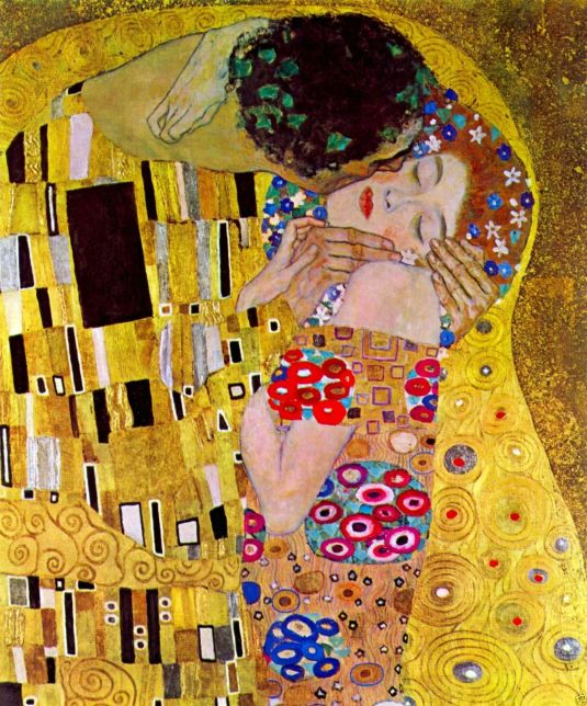 El Beso (The Kiss) por Gustav Klimt (1806-1918). Viena - Austria.