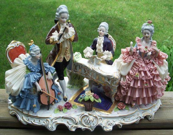 porcelana alemana Dresden 1880