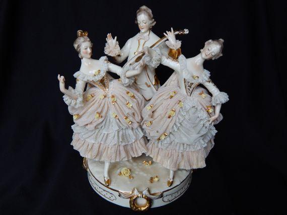 porcelana alemana Dresden 1920