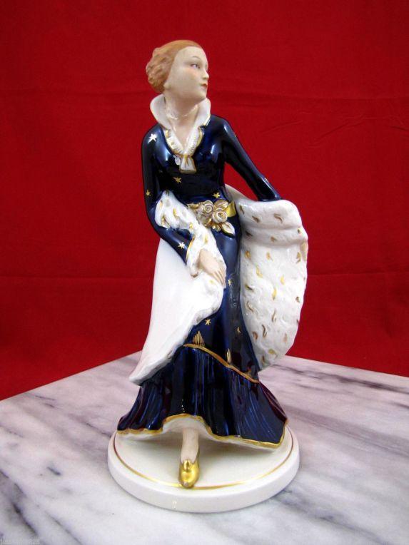 porcelana alemana royal dux art deco 1940