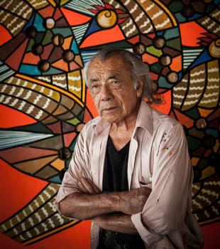 El pintor y escultor peruano Víctor Delfín