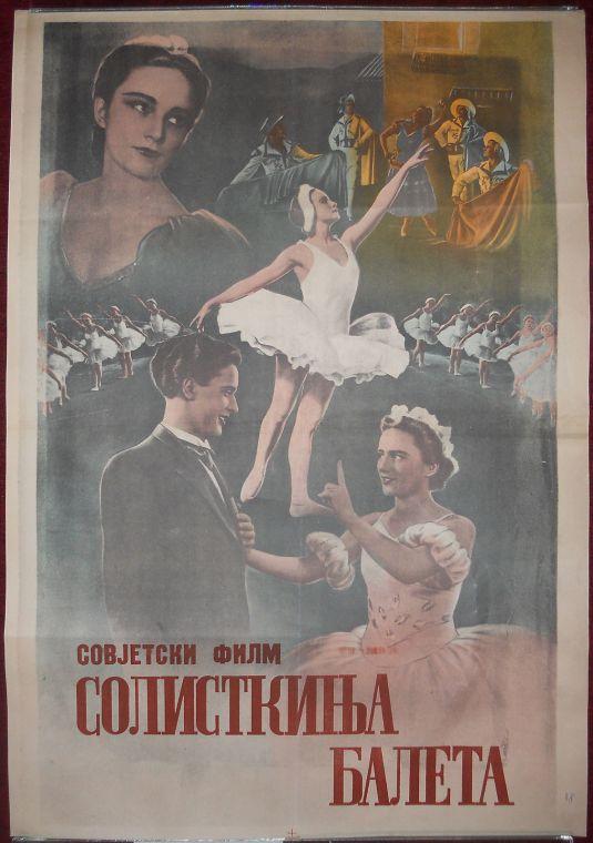 Antiguo poster del ballet soviético, 1948.