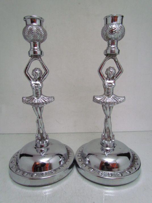 bailarinas candelabros art deco
