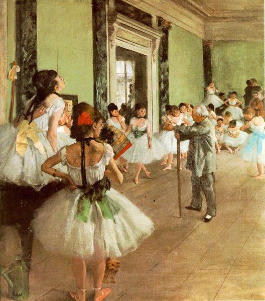 Clases de Danza por Edgar Degas, 1873.