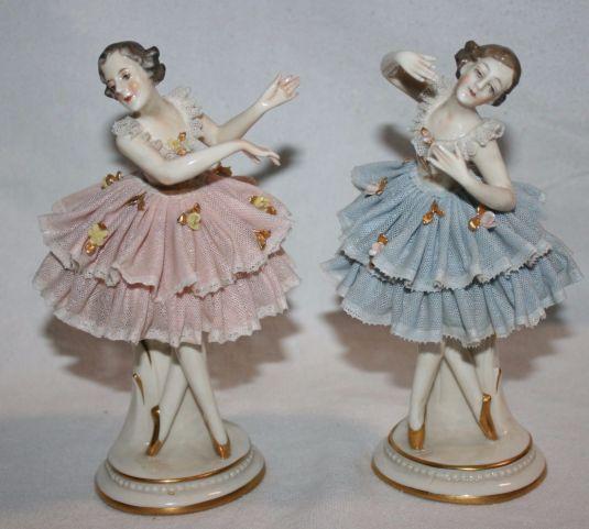 Bailarinas de porcelana alemana, 1902.