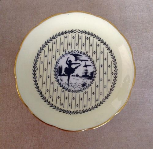 Plato de porcelana Taylor & Kent.