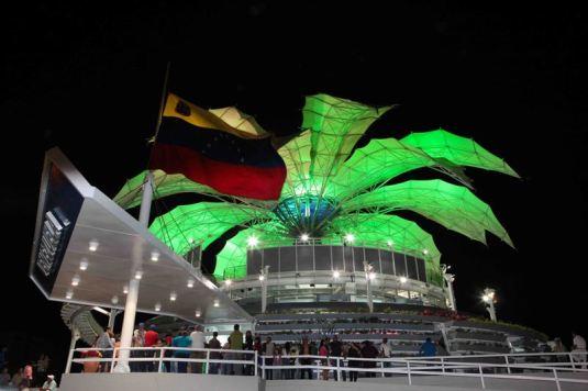 Centro Cultural de Barquisimeto - Venezuela. Vista nocturna.