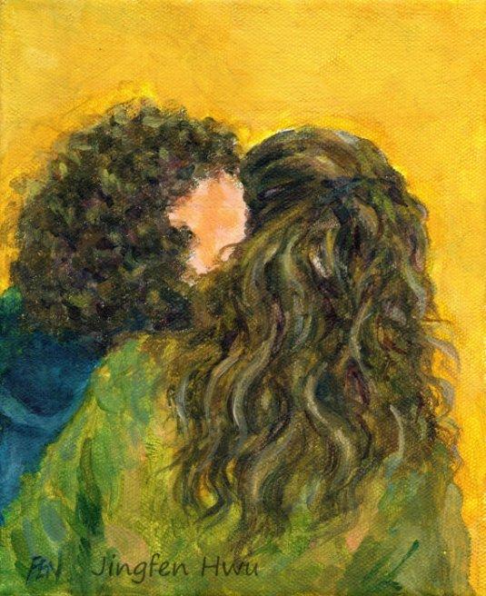 pintura the kiss of two curlu hair