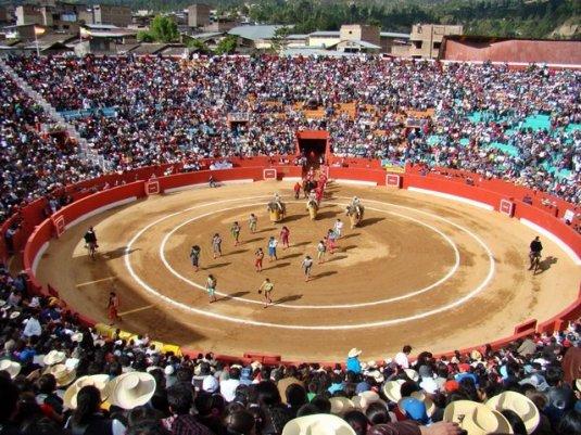 Corrida de toros en Plaza de Acho, Lima - Perú.